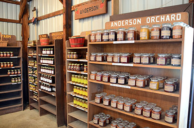 Picture of other butters, preserves, and candles at Anderson Orchard in Mooresville, Indiana