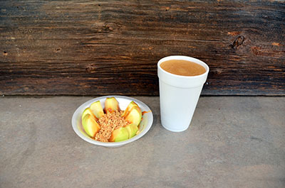 Picture of apple cider slush at Anderson Orchard in Mooresville, Indiana